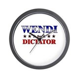 WENDI for dictator Wall Clock