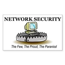 Network Security Rectangle Decal