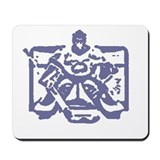 Hockey goalie colored Mousepad
