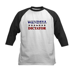 WENDELL for dictator Kids Baseball Jersey