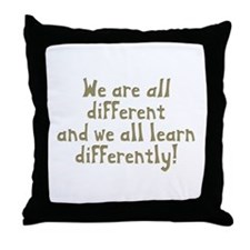 We're all Different Throw Pillow