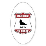 Shih Tzu On Guard Oval Decal