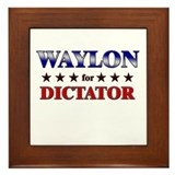 WAYLON for dictator Framed Tile