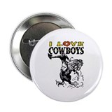 I Love Cowboys Button