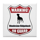 Ridgeback On Guard Tile Coaster
