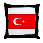 Turkey Turkish Blank Flag Throw Pillow