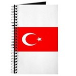 Turkey Turkish Blank Flag Journal