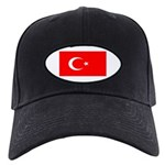 Turkey Turkish Blank Flag Black Cap