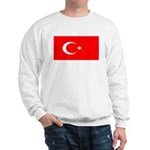Turkey Turkish Blank Flag Sweatshirt
