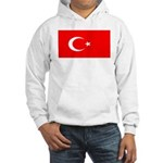 Turkey Turkish Blank Flag Hooded Sweatshirt