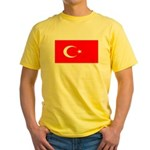 Turkey Turkish Blank Flag Yellow T-Shirt