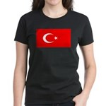 Turkey Turkish Blank Flag Women's Dark T-Shirt