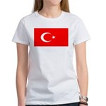 Turkey Turkish Blank Flag Women's T-Shirt
