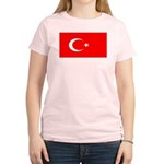 Turkey Turkish Blank Flag Women's Light T-Shirt
