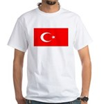 Turkey Turkish Blank Flag White T-Shirt