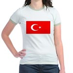 Turkey Turkish Blank Flag Jr. Ringer T-Shirt