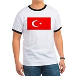 Turkey Turkish Blank Flag Ringer T