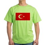 Turkey Turkish Blank Flag Green T-Shirt