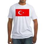 Turkey Turkish Blank Flag Fitted T-Shirt