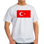 Turkey Turkish Blank Flag Light T-Shirt