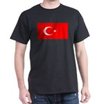 Turkey Turkish Blank Flag Dark T-Shirt
