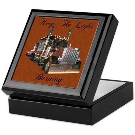 Keep The Lights Burning Keepsake Box