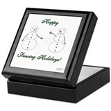 Fencing Holiday Keepsake Box