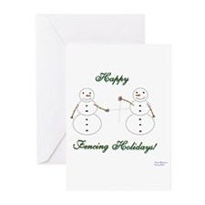 Fencing Holiday Greeting Cards (Pk of 10)