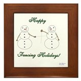 Fencing Holiday Framed Tile