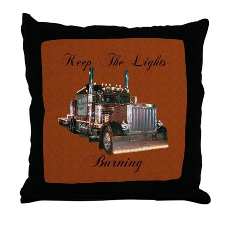Keep The Lights Burning Throw Pillow