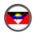 Antigua Barbuda Blank Flag Wall Clock