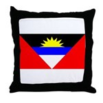 Antigua Barbuda Blank Flag Throw Pillow