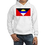 Antigua Barbuda Blank Flag Hooded Sweatshirt