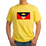 Antigua Barbuda Blank Flag Yellow T-Shirt