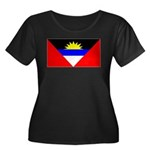 Antigua Barbuda Blank Flag Women's Plus Size Scoop