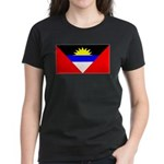 Antigua Barbuda Blank Flag Women's Dark T-Shirt