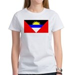 Antigua Barbuda Blank Flag Women's T-Shirt