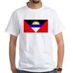 Antigua Barbuda Blank Flag White T-Shirt