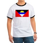Antigua Barbuda Blank Flag Ringer T