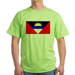 Antigua Barbuda Blank Flag Green T-Shirt