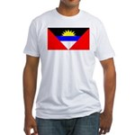 Antigua Barbuda Blank Flag Fitted T-Shirt