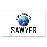 World's Greatest SAWYER Rectangle Decal