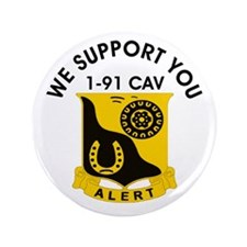 """1-91 Cavalry 3.5"""" Button"""