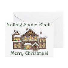 Gaelic Christmas House Cards (Pk of 10)
