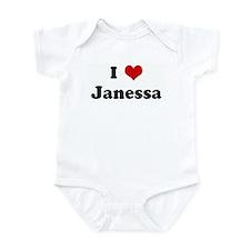 I Love Janessa Infant Bodysuit