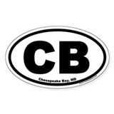 Chesapeake Bay, MD CB Oval Bumper Stickers