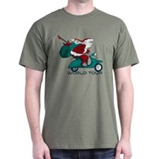 Santa's World Tour Scooter T-Shirt