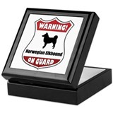 Elkhound On Guard Keepsake Box