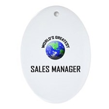 World's Greatest SALES MANAGER Oval Ornament