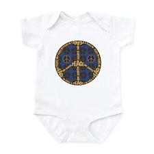 Blue Peace On Earth Vintage Infant Bodysuit